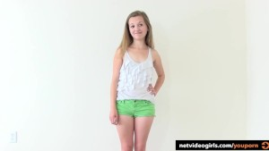 Teen Next Door In A Calendar Audition