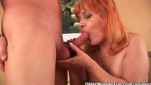 Shoot your cum load on a grandma s face or tits