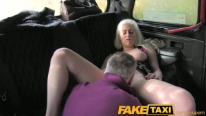 FakeTaxi guy fucks blonde milf with big tits in his cab
