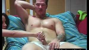 Tattooed Straight Guy Theo Masturbating