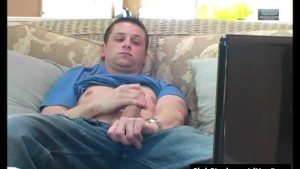 Brunette Straight Guy Rush Masturbating