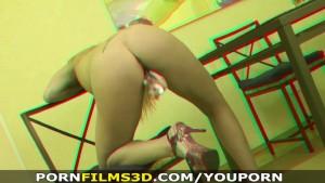 Porn Films 3D - Naked smoker enjoying her glass toy
