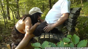 Dogging wife at the public park