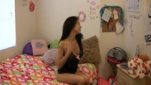 Horny Teen Neighbor Seduced Me In A Strip Dance