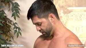 Passionate gay gives blowjob