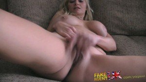 FakeAgentUK Stateside blonde MILF looking for hardcore porn in UK
