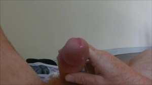 Mein vierundfünfzigster Orgasmus Orgasm 54th I masturbate for ejaculation with a heavy sprout of precum in between