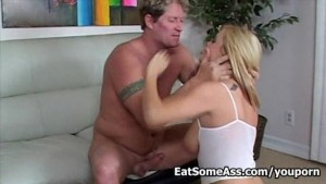 Blonde Bitch Alicia Rhodes is Hungry for Intense Ass Eating