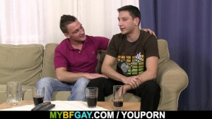 She finds him with gay cock in the ass