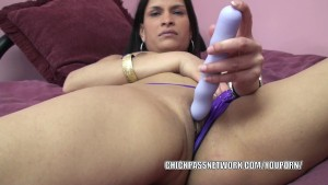 Exotic MILF Naomi Shah uses a toy on her tight twat