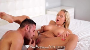 Olivia Austin teases her man until he ravages her - PureMature