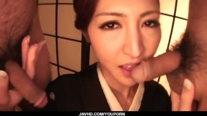 Perfect Japanese blowjob with Koyuki Hara