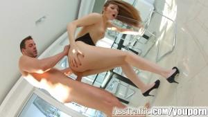 Ass Traffic Rough anal sex for russian redhead