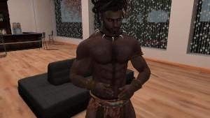 Un beau black bien musclé