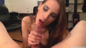 Brunette Tina Blade enjoys a messy cumshot