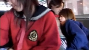 Airin Okui and chick in school uniform suck boners in the car