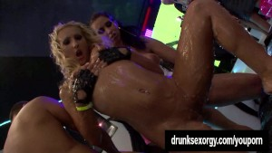 Horny bi bitches fucking at a party