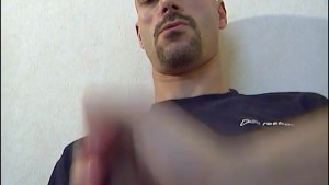 Came to delivery a box, he gets wanked his big cock in a porn video by us!