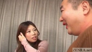 Dominant Japanese woman tease cross-dressing man English Subtitles