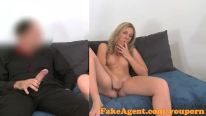 FakeAgent Horny babe can t wait for big dick in casting interview