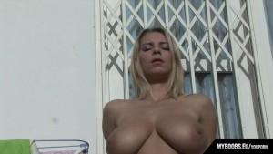 Busty Star Katrina Kozy In Hot Day Masturbate On Balcony