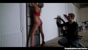 Barra Brass bound gagged caged spanked whipped dildoed vibed machine-fucked