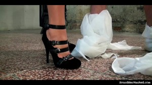 Trailer-BMW-Long-Greg bound tapegagged stripped and wanked by Mia