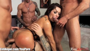 EvilAngel Slutty MILF DP and Facialed by 5 Cocks