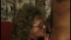 Granny rides balding man s cock