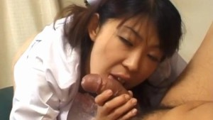 Japanese AV Model nurse has cunt licked, fingered and fucked