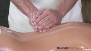 Massage Rooms Tall horny blonde sucks and fucks her way to multiple orgasms