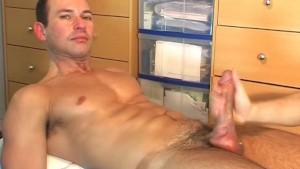 Gym trainer found in a gym club gets wanked his big cock by me!