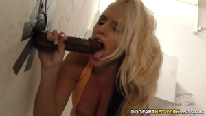 Alena Croft Having Fun With Two Random Black Cocks