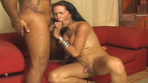 Brunette On Camera- Tranny Kings