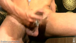 Mysterious shemale with big dick jerking