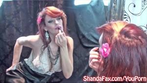 Kinky Milf Shanda Fay Masturbates in Stockings!