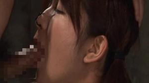 Asian bitch has a rough bdsm cock sucking action