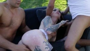 BurningAngel Tattooed Chick Anal Threesome