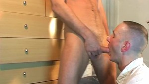 My str8 neighbour made a porn: watch his huge cock gets sucked by a guy!