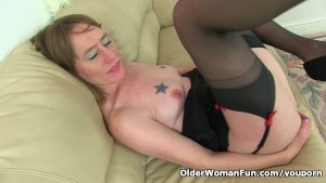 British milf Sexy P feels so naughty today