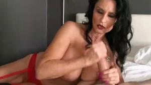 The Busty Milf Treats One Of Her Fan s Cock