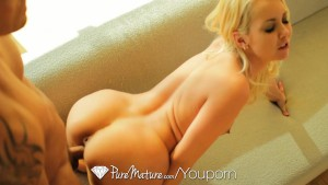 PureMature - Aaliyah Love grinds her mans dick on her couch