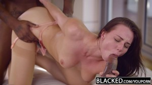BLACKED Beautiful Student Aidra Fox Takes Two BBCs