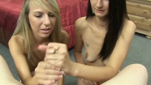 Kiarra and Krissy Share a Hard Dick