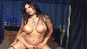Amateur with big tits in stockings & high heels gets fucked