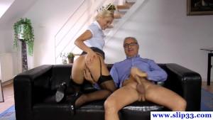 Stockings amateur sixtynining oldman