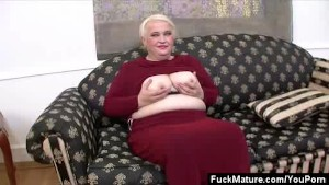 Chubby Mature Honey Stripping
