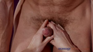 Massage Rooms Fitness beauty with tight body has intense orgasm