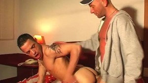 Full video: A innocent room service guy serviced his ass by a guy!
