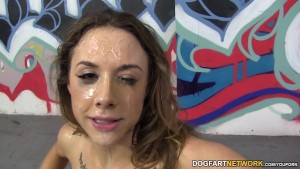 Chanel Preston takes huge facial from BBCs